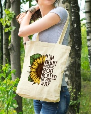 Sunflower Hippie Tote Bag Tote Bag lifestyle-totebag-front-4