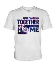 One World Together At Home T Shirt V-Neck T-Shirt thumbnail