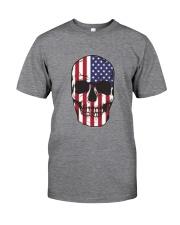 America-skull usa flag t shirt Classic T-Shirt thumbnail