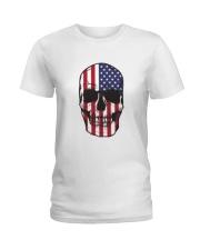 America-skull usa flag t shirt Ladies T-Shirt thumbnail