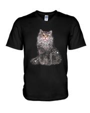 CAT TWINKLE V-Neck T-Shirt thumbnail
