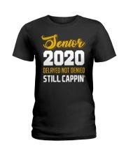 Seniors 2020 Delayed Not Denied Ladies T-Shirt front