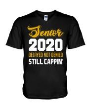 Seniors 2020 Delayed Not Denied V-Neck T-Shirt thumbnail