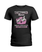 Tattooed Nurse Ladies T-Shirt thumbnail