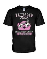 Tattooed Nurse V-Neck T-Shirt thumbnail