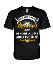I Just Want To Watch Musicals V-Neck T-Shirt thumbnail