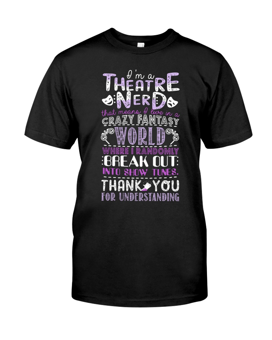 Theatre Nerd Purple  Classic T-Shirt