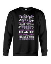 Theatre Nerd Purple  Crewneck Sweatshirt thumbnail