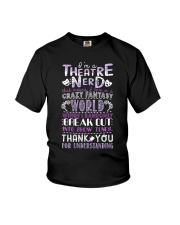 Theatre Nerd Purple  Youth T-Shirt thumbnail