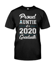 Proud Auntie of a 2020 Graduate Classic T-Shirt front