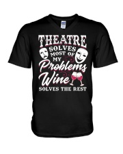Theatre Solves Most Of My Problems  V-Neck T-Shirt thumbnail