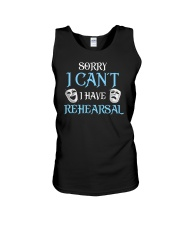Sorry I Can't I Have Rehearsal Unisex Tank tile