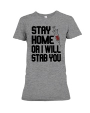 Stay Home V2 Premium Fit Ladies Tee tile