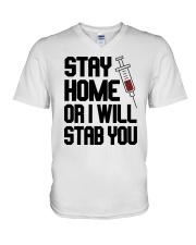 Stay Home V2 V-Neck T-Shirt thumbnail
