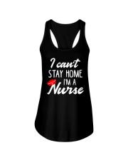 I Can't Stay Home I'm a Nurse Ladies Flowy Tank thumbnail