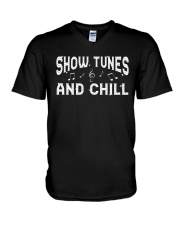 Show Tunes and Chill V-Neck T-Shirt thumbnail
