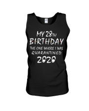 My 28th Birthday Quarantined 2020 Unisex Tank thumbnail