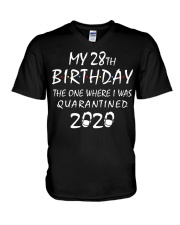 My 28th Birthday Quarantined 2020 V-Neck T-Shirt thumbnail