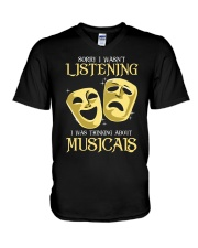 I Was Thinking About Musicals V-Neck T-Shirt tile