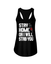 Stay Home Ladies Flowy Tank thumbnail