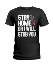 Stay Home Ladies T-Shirt thumbnail