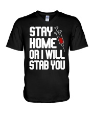 Stay Home V-Neck T-Shirt thumbnail