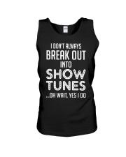 Break Out Into Show Tunes Unisex Tank thumbnail