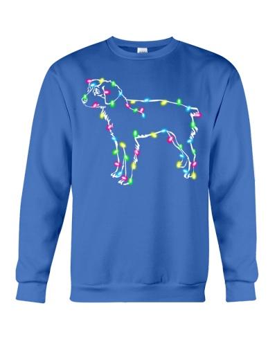 Christmas Lights Xmas Dog Brittany