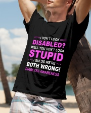 Diabetes Look Stupid Classic T-Shirt lifestyle-mens-crewneck-front-9