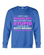 Diabetes Look Stupid Crewneck Sweatshirt front