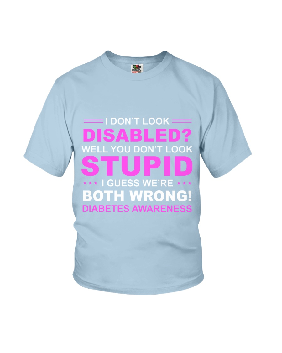 Diabetes Look Stupid Youth T-Shirt