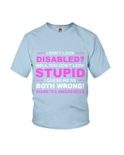 Diabetes Look Stupid Youth T-Shirt front