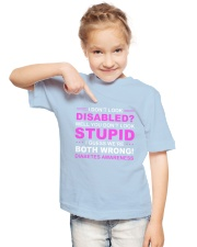 Diabetes Look Stupid Youth T-Shirt lifestyle-youth-tshirt-front-2