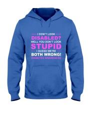 Diabetes Look Stupid Hooded Sweatshirt front