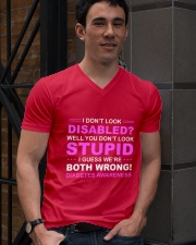 Diabetes Look Stupid V-Neck T-Shirt lifestyle-mens-vneck-front-2