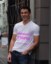 Diabetes Look Stupid V-Neck T-Shirt lifestyle-mens-vneck-front-1