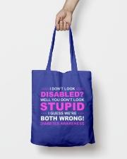 Diabetes Look Stupid Tote Bag lifestyle-totebag-front-2