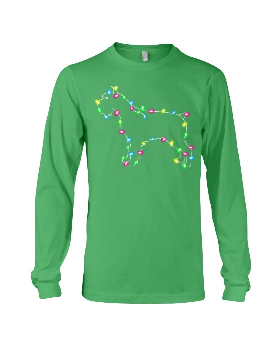 Christmas Lights Xmas Dog Miniature Schnauzer Long Sleeve Tee