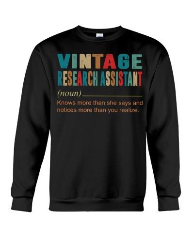 Vintage RESEARCH ASSISTANT