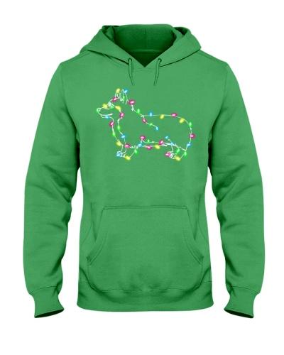 Christmas Lights Xmas Dog Pembroke Welsh Corgi