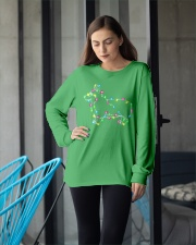 Christmas Lights Xmas Dog Pembroke Welsh Corgi Long Sleeve Tee apparel-long-sleeve-tee-lifestyle-front-20
