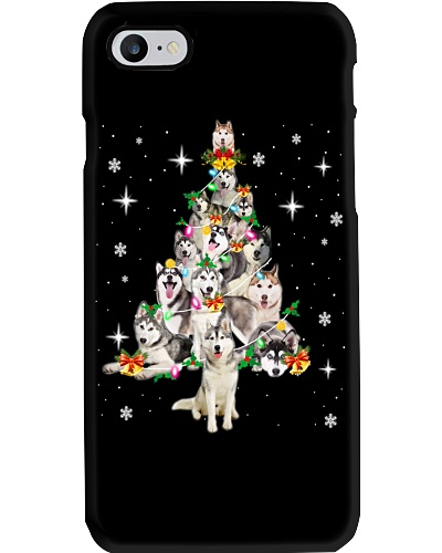 HUSKY CHRISTMAS TREE