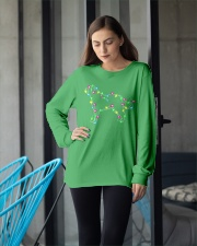 Christmas Lights Xmas Dog Saint Bernard Long Sleeve Tee apparel-long-sleeve-tee-lifestyle-front-20