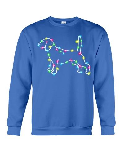 Christmas Lights Xmas Dog Beagle