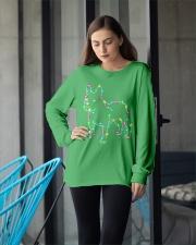 Christmas Lights Xmas Dog French Bulldog Long Sleeve Tee apparel-long-sleeve-tee-lifestyle-front-20