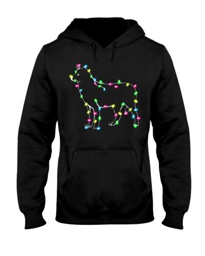 Christmas Lights Xmas Dog Siberian Husky