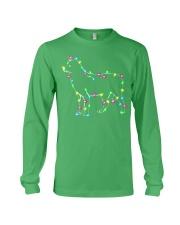 Christmas Lights Xmas Dog Siberian Husky Long Sleeve Tee front