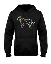 Christmas Lights Xmas Dog Bloodhound Hooded Sweatshirt thumbnail