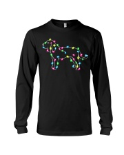 Christmas Lights Xmas Dog Bloodhound Long Sleeve Tee tile