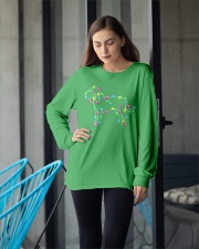 Christmas Lights Xmas Dog Bloodhound Long Sleeve Tee apparel-long-sleeve-tee-lifestyle-front-20